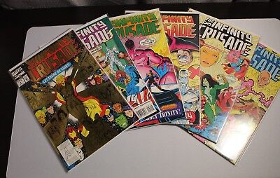 INFINITY CRUSADE #1-6 VF+ to NM+ 1993 COMPLETE SET THANOS AVENGERS Starlin Movie