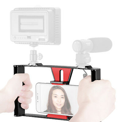 Neewer Smartphone Video Rig Dual Handheld Grip Stabilizer for iPhone X 8 7 Plus