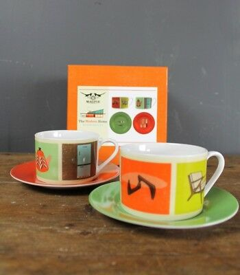 Magpie Boxed Cup And Saucer Set Featuring Mid Century Furniture / Retro / Modern