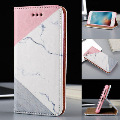 Luxury Marble Pattern Leather Wallet Magnetic Shockproof Flip Stand Case Cover