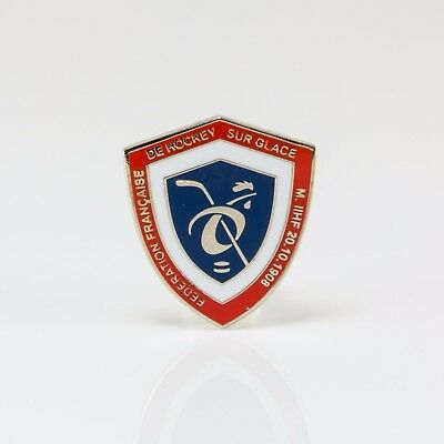 Ice Hockey Federation of France pin, badge, lapel, hockey