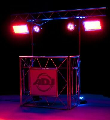 DJ Pult Mobil Truss  DJ Platz DJ Tisch PRO EVENT TABLE II mit Backtruss