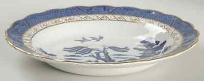 "Booths REAL OLD WILLOW BLUE 8 1/2"" Rimmed Soup Bowl 38715"