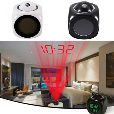 Digital LCD Display LED Projection Alarm Clock Weather Station Temperature Clock