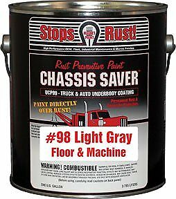 Chassis Saver Paint, Stops and Prevents Rust, Gloss Black, 1 Gallon Can Magnet P