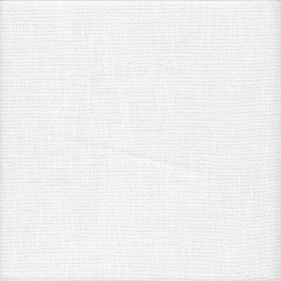 28 count Zweigart Trento Evenweave Cross Stitch Fabric Fat Quarter White 49x59cm