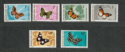 Burkina Faso Sc#244-249 M/NH/VF, Complete Set, Butterfly Stamps, Cv. $28