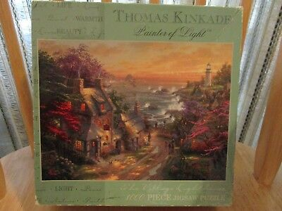 The Village Lighthouse1000 Pc Puzzle By Thomas Kinkade Caeco 20