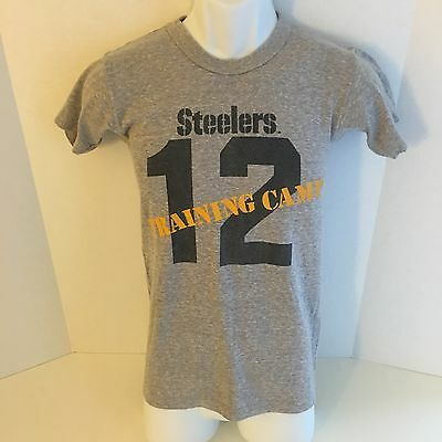 VTG 70s 80s PITTSBURGH STEELERS T-Shirt Terry Bradshaw S training camp Champion