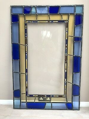 Stained Glass Panel Contemporary Design By Bath Aqua Glass with fused glass