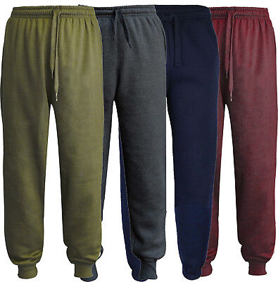 Kids Boys Girls Tracksuit Jogging Bottoms School PE Fleece Trousers pack 1 2 & 4