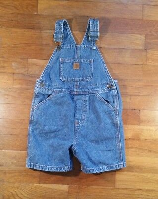 Carhartt Toddlers Blue Jean Overall Shorts Size 4T Guc