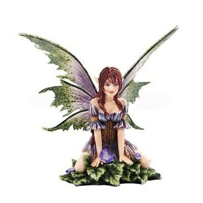Amy Brown Fantasy Wild Violet Faery Mushroom Fairy Statue Enchanted Figurine