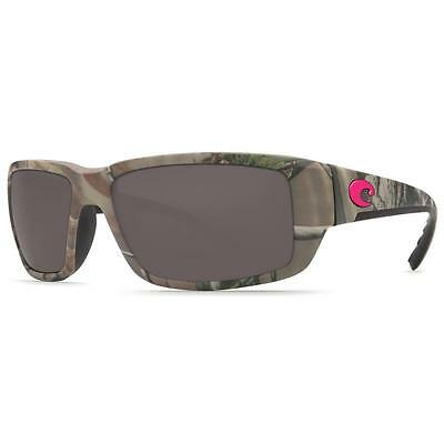 New Costa Del Mar Fantail Polarized Sunglasses 580P Realtree Xtra Pink Camo/Gray
