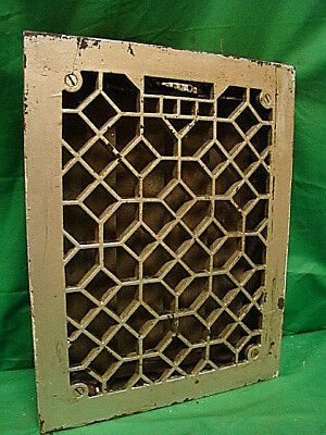 ANTIQUE HEAVY DUTY CAST IRON HEATING GRATE VENT REGISTER ORNATE DESIGN 14 X 11 h