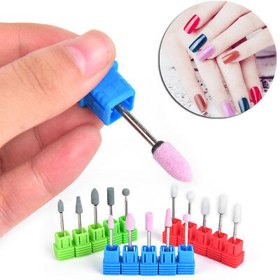 5pcs Nail Drill Bit Manicure Head Grinding Cuticle Clean Nails Tool File  ATFU