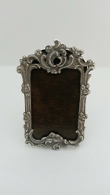 Small Ornate Silver Antique Miniature Picture Photograph Frame
