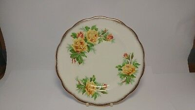 """Royal Albert Yellow Tea Rose 8 1/8"""" Salad Plate in EXCELLENT Condition"""