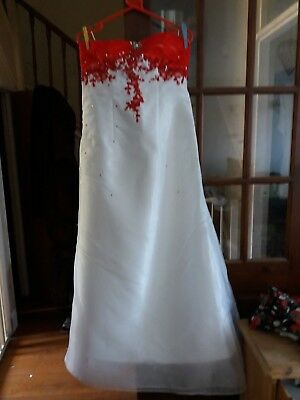 SIZE 12 Monsoon Silk Wedding Dress 2 Piece - £20.00 | PicClick UK