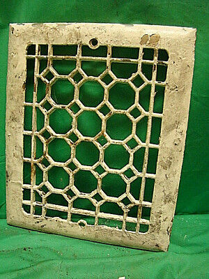 ANTIQUE LATE 1800'S CAST IRON HEATING GRATE COVER HONEYCOMB DESIGN 11.5 x 9.5