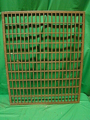 Huge Vintage 1920S Cast Iron Heating Return Grate Rectangular Design 31 X 25 A
