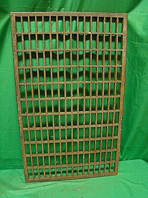 Huge Vintage 1920S Cast Iron Heating Return Grate Rectangular Design 31 X 19 A