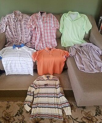 Mens clothes shirts mixed lot of 7 size Large