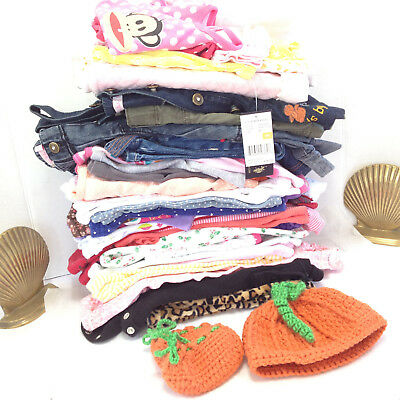 Girl Girls Clothes 37 Lot Baby Toddler Mixed Clothing Wholesale Resale Resell