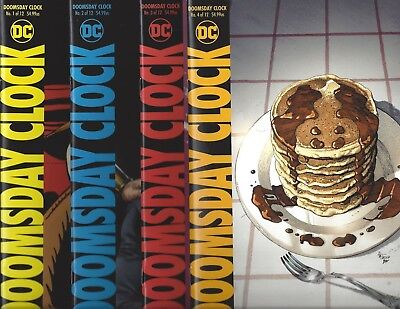 Doomsday Clock #1 2 3 4 Mixed Printings  Button Included Dc!