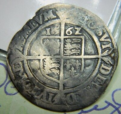 Tudor Period 1562 Elizabeth 1St Silver Sixpence Rose Beside Bust Mm Pheon