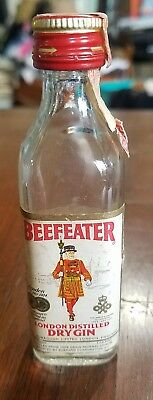 Vintage Beefeater London Dry Gin bottle liquor bottle England