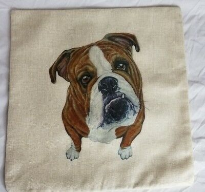 Colorful English Bulldog Pillow Cover