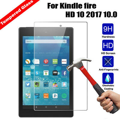 Premium Tempered Glass Screen Protector For Amazon Kindle fire HD 10 2017 10.0