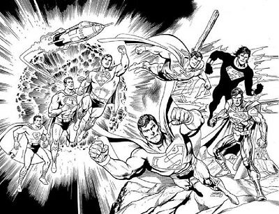 Action Comics 1000 Dan Jurgens Df Wraparound B&w Sketch Variant Superman Nm