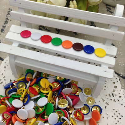 50-1000X Colorful Drawing Metal Push Pin Thumb Tacks Nickel Plating Box Home DIY
