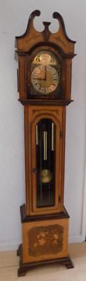 pretty inlaid westminster chimes longcase clock