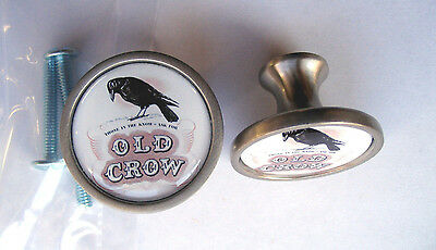 Old Crow Cabinet Knobs, Old Crow Whiskey Logo Cabinet Knobs, Old Crow Knobs