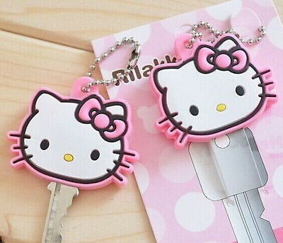 1Piece Lovely Hello Kitty Key Chain Rubber Key Wallet Bag Wallet Holder 4CM