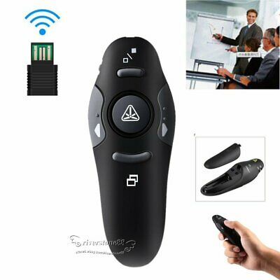 2.4GHz Wireless USB PowerPoint Presenter Remote Control Laser RF Pointer Pen A+
