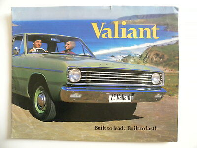 Brochure CHRYSLER VALIANT AUSTRALIE de 1968