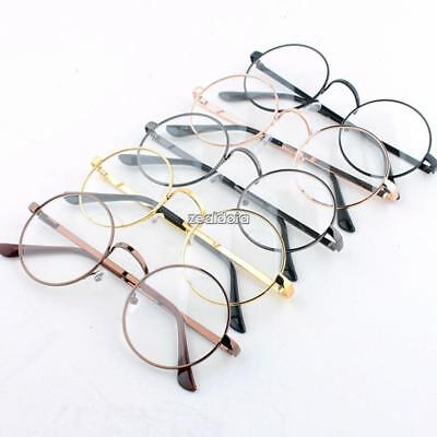 fac05f9234b Women Men Large Oversized Metal Frame Clear Lens Round Circle Eye Glasses F