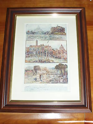 Print dated 1906 Rome St. Peter's Arch of Titus Forum (also available unframed)