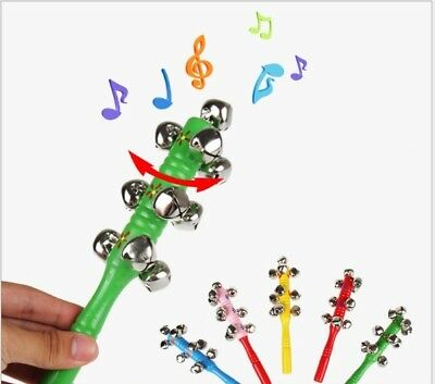 1PC Hand Bells Jingle Sleigh Percussion Kids Baby Musical Instrument Shaker Toys