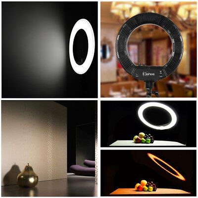 "8"" Photography Studio Dimmable LED Ring Light with 8cm Mirror and Adapter"
