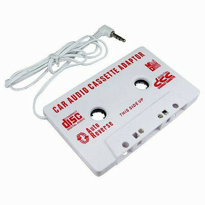 Car Audio Tape Cassette Adapter For iPod Mobile MP3 CD Radio 3.5mm Jack AUX WH