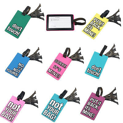 Secure Travel Suitcase Luggage Tags ID Address Holder Identifier Label Latest