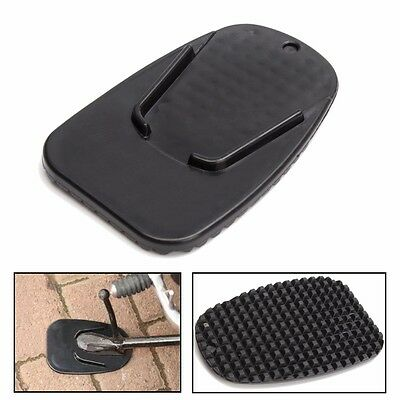 Motorbike / Motorcycle Kickstand Pad / Plate ( BLACK ) ( NEW ) ( Unsealed )