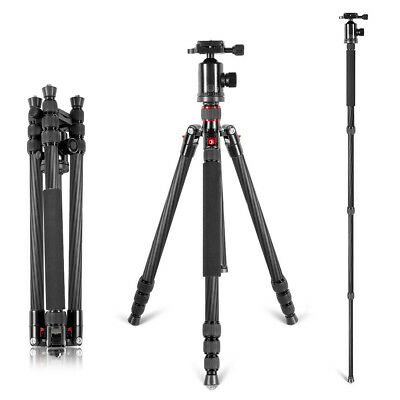 "Neewer Carbon Fiber 66""/168cm Portable Camera Tripod Monopod with 360° Ball Head"