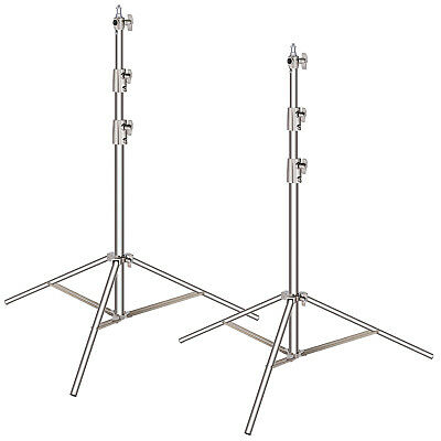 Neewer 2pcs Stainless Steel Light Stand with 1/4-inch to 3/8-inch Adapter