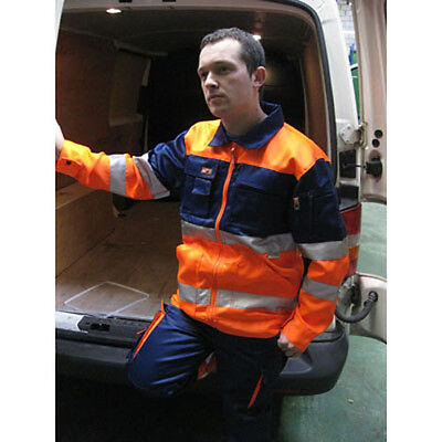 Hi Visibility Heavy Duty Contrast Safety Work Recovery Jacket, HYM266